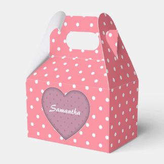 Polka Dots Pink Love Favor Box