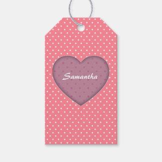 Polka Dots Pink Love Gift Tags