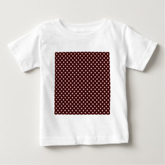 Polka Dots - Pink on Brown Baby T-Shirt