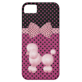 Polka Dots & Pink Poodle iPhone 5 Case