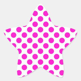 Polka Dots Pink Star Sticker