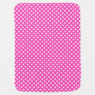Polka Dots Pink/White Reversible Stroller Blankets