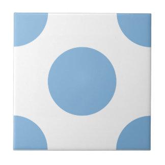 Polka Dots Placid Blue Tiles
