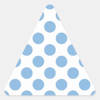 Polka Dots Placid Blue Triangle Sticker