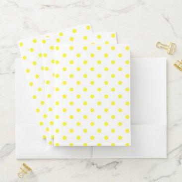 Beach Themed Polka Dots Pocket Folder