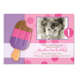 Polka Dots & Popsicles 5x7 Paper Invitation Card