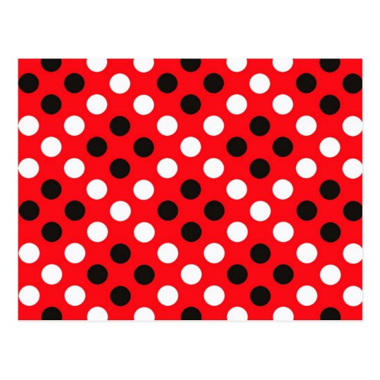 Polka dots postcard