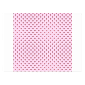 Polka Dots - Puce on Pink Lace Postcard