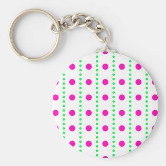 polka dots punteáis puntuado llavero redondo tipo pin