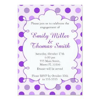 Polka Dots Purple Engagement Party Invitation