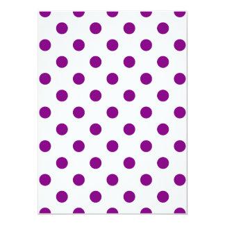 Polka Dots - Purple on White Card