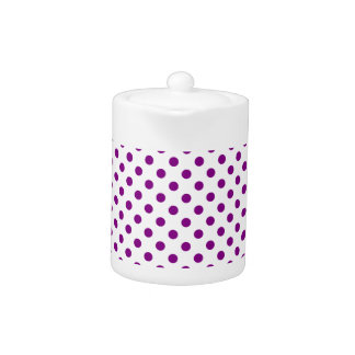 Polka Dots - Purple on White