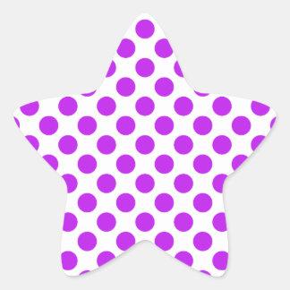 Polka Dots Purple Star Sticker