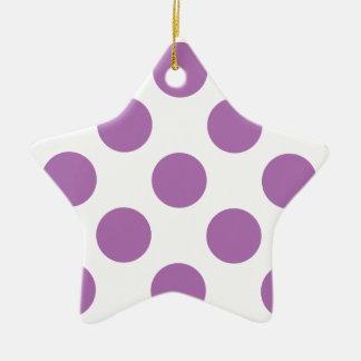 Polka Dots Radiant Orchid Christmas Tree Ornaments