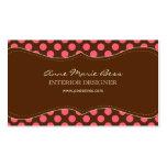 Polka Dots Raspberry Chocolate  business cards