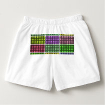 Polka dots rectangles pattern boxers