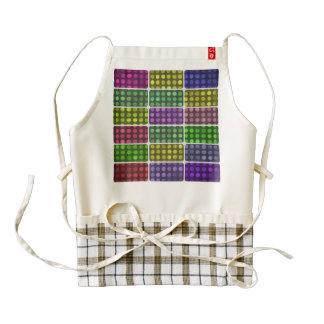Polka dots rectangles pattern zazzle HEART apron