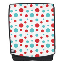 Polka Dots Red and Blue Backpack