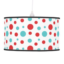 Polka Dots Red and Blue Ceiling Lamp