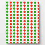 Polka dots Red and green Display Plaque