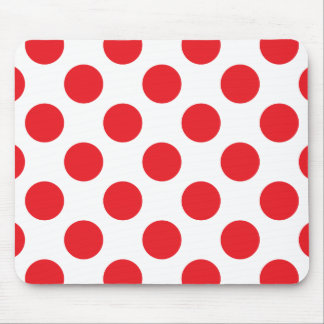 Polka Dots Red Mouse Pad