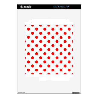 Polka Dots - Red on White Decal For iPad 2