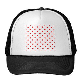 Polka Dots - Red on White Trucker Hat