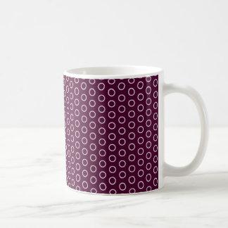 polka dots red purple pink pink scores dabs punkti coffee mug