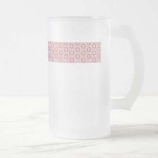 polka dots red purple pink pink scores dabs punkti frosted glass beer mug