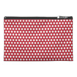 Polka dots red white retro spots mini clutch bag travel accessory bags