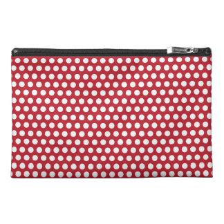 Polka dots red white retro spots mini clutch bag