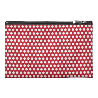 Polka dots red white retro spots mini clutch bag travel accessory bags