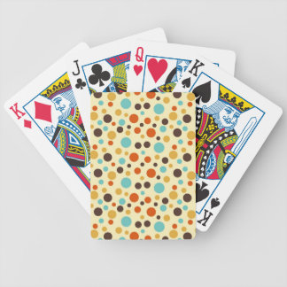 Polka Dots Retro Colors Blue Yellow Red Bicycle Playing Cards