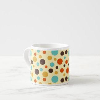 Polka Dots Retro Colors Blue Yellow Red Espresso Cup