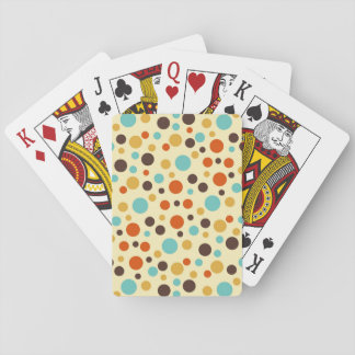 Polka Dots Retro Colors Blue Yellow Red Poker Deck