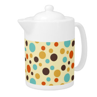 Polka Dots Retro Colors Blue Yellow Red