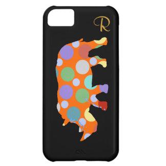 polka dots rhino animal iPhone 5C cover