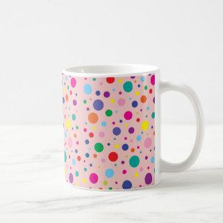 Polka Dots | Rose Quartz Customized Background Clr Coffee Mug