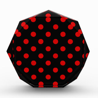 Polka Dots - Rosso Corsa on Black Acrylic Award