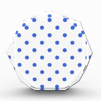 Polka Dots - Royal Blue on White Award