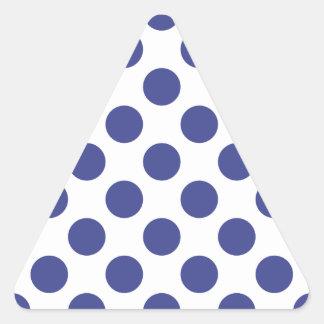 Polka Dots Royal Blue Triangle Sticker