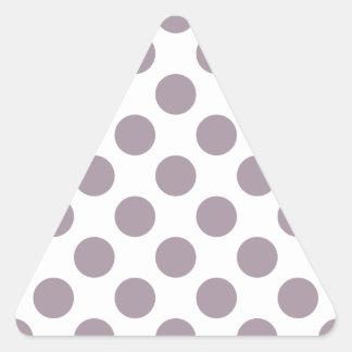 Polka Dots Sea Fog Triangle Sticker