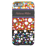 polka-dots seamless pattern personalized tough iPhone 6 case