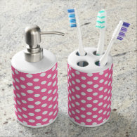 Polka Dots/Soap Dispenser and Toothbrush Holder