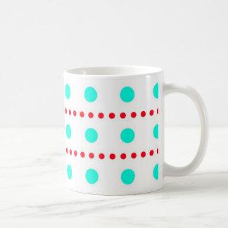 polka dots spots dab dabbed scores coffee mug