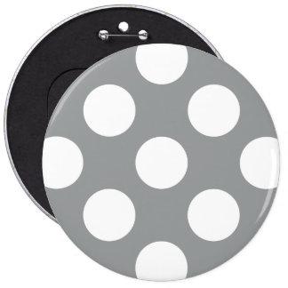 Polka Dots, Spots (Dotted Pattern) - Gray White Pin