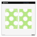 Polka Dots, Spots (Dotted Pattern) - Green White Decals For Kindle Fire
