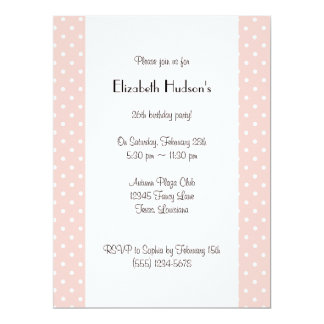 Polka Dots, Spots (Dotted Pattern) - Pink White 6.5x8.75 Paper Invitation Card