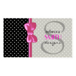 Polka Dots, Spots (Dotted Pattern) - White Black Business Card Template