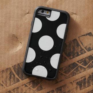 Polka Dots, Spots (Dotted Pattern) - White Black Tough Xtreme iPhone 6 Case